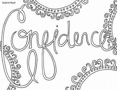 Confidence Encouragement Doodles Testing