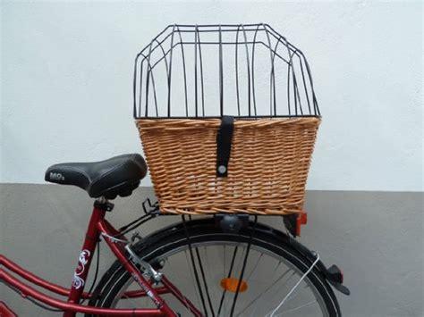 tigana hunde fahrradkorb fuer den gepaecktraeger aus weide