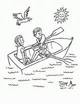 Row Boat Coloring Colouring Clipart Pages Preschool Boating Rowboat Rowing Drawing Sheet Template Everything Ad Nursery Everythingpreschool Viewer Rhymes Spoke sketch template