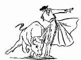 Matador Clipart Drawing Bull Spanish Torero Cliparts Bullfighter Coloring Ferdinand Bullfighting Graphics Fighting Clipground Cf Clip Clipartmag Library Hatstand Opera sketch template