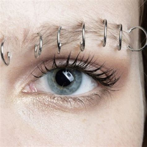 88 Unusual and Really Cool Eyebrow Piercing Styles and Jewelry