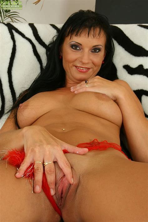 Milf Tessa Karups Takes Off Her Red See Through Lingerie