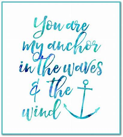 Anchor Printable Quotes Nautical Teal Quote Bible