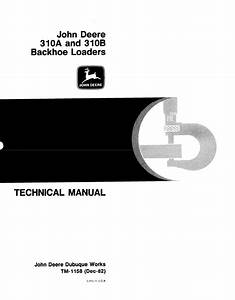 John Deere 310a 310b Backhoe Loaders Tm1158 Pdf Manual
