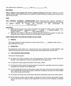 car lease agreement template uk - sample vehicle lease agreement template