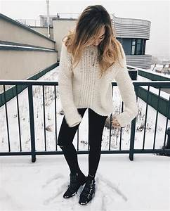 Shoes winter outfits boots ripped jeans jeans winter outfits outfit outfit goals - Wheretoget