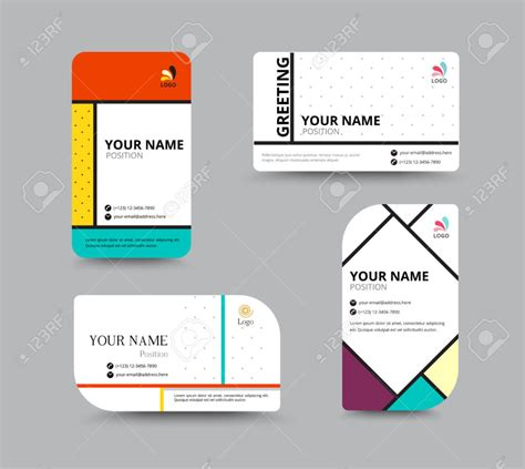 Name Card Design Template Free