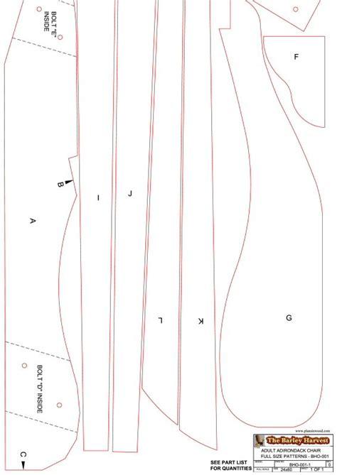woodwork printable adirondack chair plans  plans