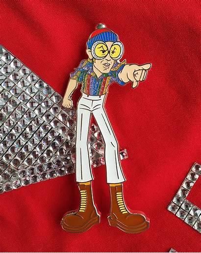 Pinball Wizard Elton John Enamel
