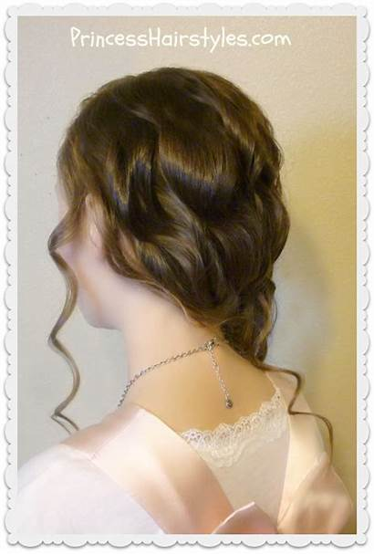 Swept Side Rose Hairstyle Braided Romantic
