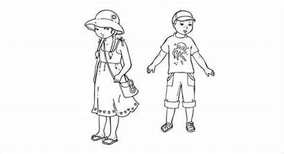 Coloring Summer Clothes Funny Pages