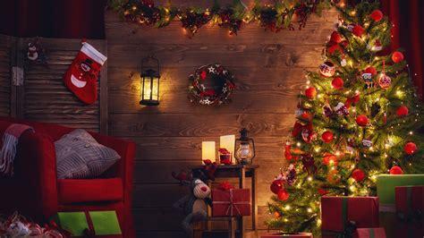 wallpaper christmas decoration xmas tree gifts