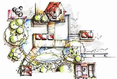 Garden Edging Sketch Zeichnen Gartenplaner Gartengestaltung Test