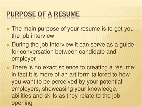 essential elements of resume writing