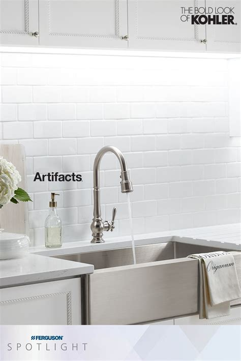 what to do when the kitchen sink is clogged the kohlerco artifacts faucet collection brings you 2270