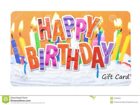 carte de cadeau d anniversaire photo stock image du blanc prepaid 13493224