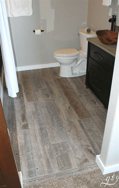 tile  bathroom floor  plank tiles blogs