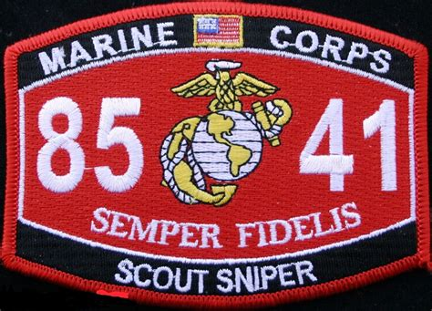 Usmc Scout Sniper 8541 Mos Patch Other