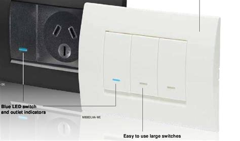 Clipsal One Gang Switch Modena Series White