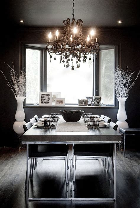 black dining room chandelier how to use black to create a stunning refined dining room