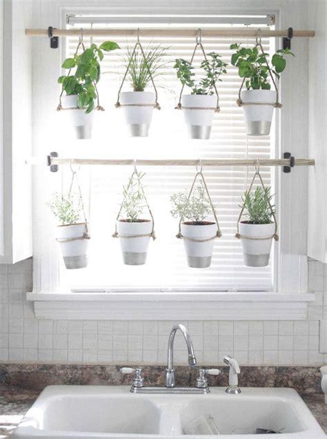 diy hanging herb garden window treatments ideas