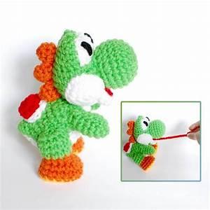 yoshi crochet amigurumi plush doll inspired by With yoshi plush template