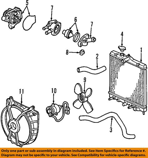 Honda Engine Cooling Diagram by Honda Oem Engine Coolant Thermostat 19301paa306 Ebay