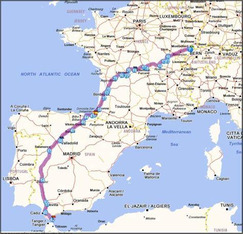 Carte Autoroute Espagne Portugal by Carte Espagne 187 Vacances Arts Guides Voyages