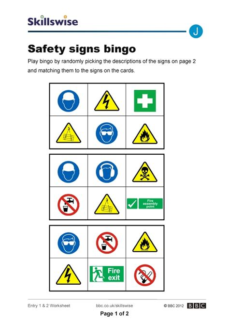 safety signs and symbols worksheets the best worksheets