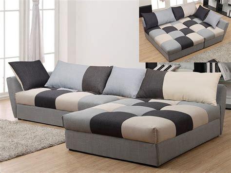 canapes tissu canapé angle convertible en tissu gris ou chocolat romane
