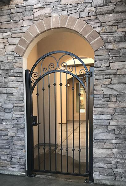 wrought iron stairs  gates meridian fence
