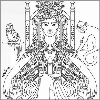 Coloring Pages African American Adult Colouring Drawings