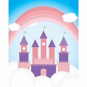 Princess Castle Printed Backdrop | Backdrop Express