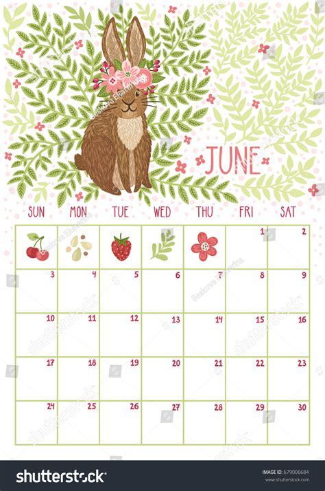 cute calendar june 2018 calendar printable 2018 calendars