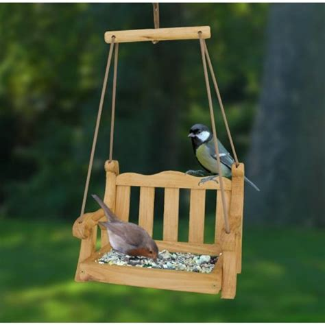 swinging seat bird feeder by garden selections
