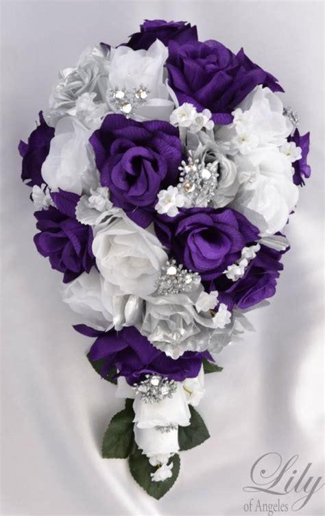 piece package bridal bouquet wedding bouquets silk