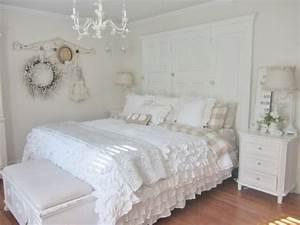 decoration de la chambre romantique 55 idees shabby chic With decoration chambre parentale romantique