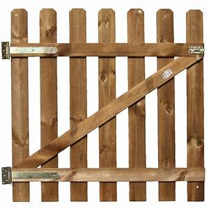 Portillon Bois Jardin : portillon stackette en bois l 1 x h 1 m oogarden france ~ Preciouscoupons.com Idées de Décoration