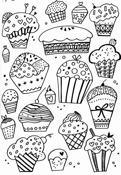 Coloring Pages Adult Printable Cupcake Cupcakes Books