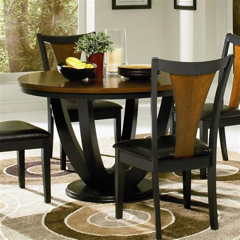 cherry dining table coaster furniture 102091 boyer round dining table in black