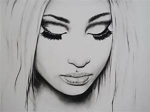 Original Charcoal Pencil Drawing of Nicki Minaj Celebrity