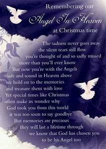 Christmas, Grave, Card, Angel, In, Heaven, Free, Holderc114