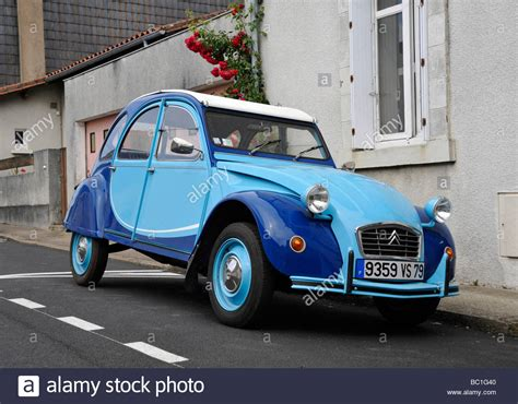 old citroen old french classic citroen 2cv motor car stock photo