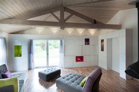 renovation meubles de cuisine aménagement pièce de vie création d 39 un mur bibliothèque