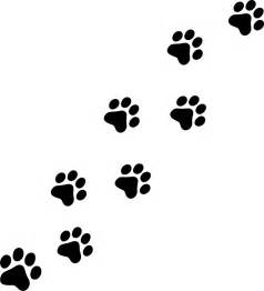 cat print paw cat print clipart