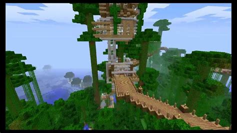 awesome minecraft treehouse youtube