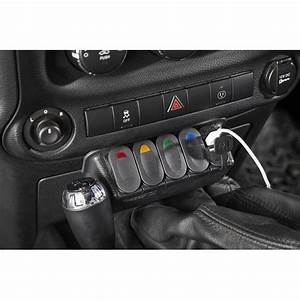 Rugged Ridge 17235 84 Lower Switch Panel Kit With Switches