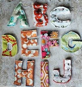 Make a magnetic fabric scrap alphabet flickr find for Fabric magnetic alphabet letters