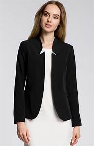 Blazer Femme Noir : veste femme blazer noire moe me358n idresstocode ~ Preciouscoupons.com Idées de Décoration