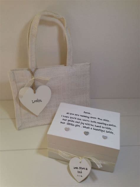 shabby chic gifts uk shabby personalised chic gift for the bride from parents daughters wedding day